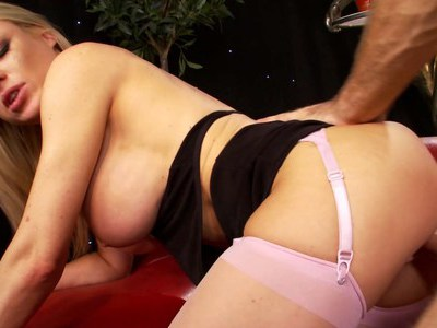 Cindy Behr takes a load on her face