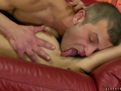 Susy is having her hairy cunt licked out