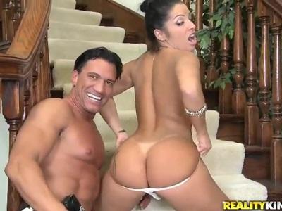 Marco Banderas & Monica Santhiago caress orally