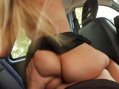 Busty Blondie Feser gets a free ride
