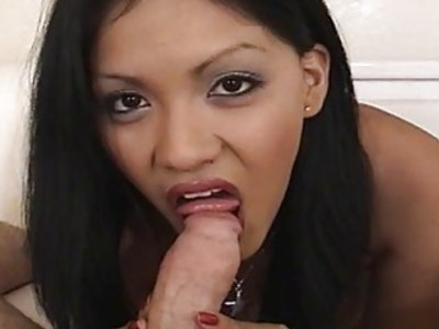 Juicy and raw Asian slut gobbles up a fat dick