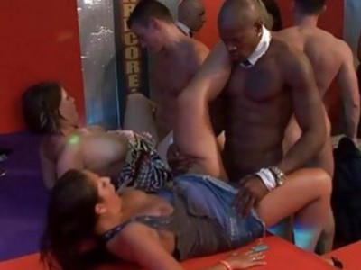 Explicit group fornication with wild hotties males