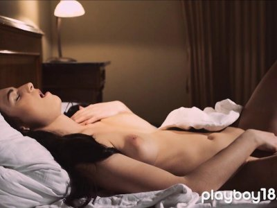 Teen got caught masturbating and fucked by her lover