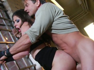 Sexited drunk chick Missy Stone loves sucking cocks
