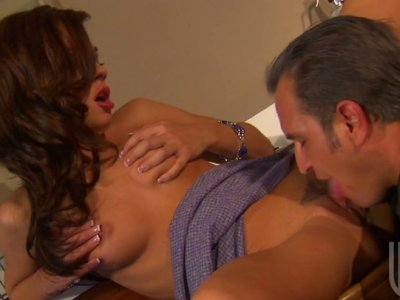 Bitchie and dirty-minded whore Kirsten Price gets poked in the kitchen