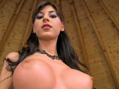 Beautiful brunette babe Ashley Brooke shows off her gorgeous body
