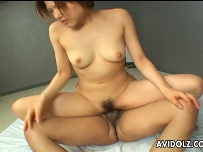 Fascinating Japanese babe Maki Hoshino gets laid with her mate