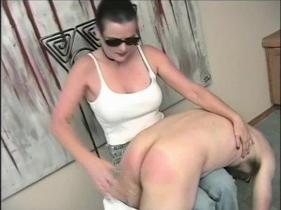 Kat Spanking a Man