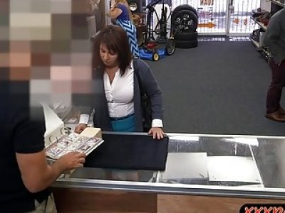 Wife fucked for cash to bail out her husband from jail