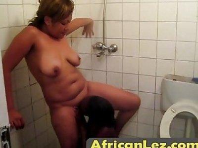 Hot Ebony lesbians in nasty action inside the bedroom
