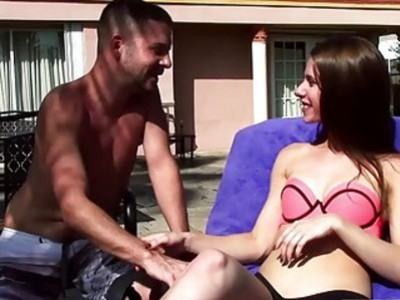 Tony plays and fuck with Anya and Jennas teen pussies