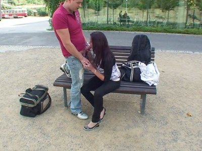 Public fuck video with cute teen