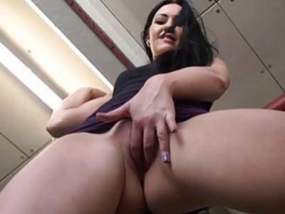 Amateur babe Carmels upskirt and voyuer masturbate
