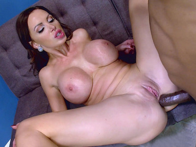 Nikki Benz taking black monstrous cock in her tight MILF ass hole
