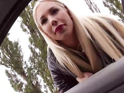 Cute blonde babe Kyra Hot will do anything for this ride