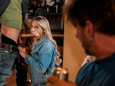 Naughty daughter got caught