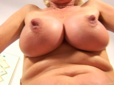 Blonde granny Janka gets her cunt fisted by Markus Waxenegger