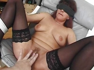 Blindfolded and Tied Mama Fucked With Facial