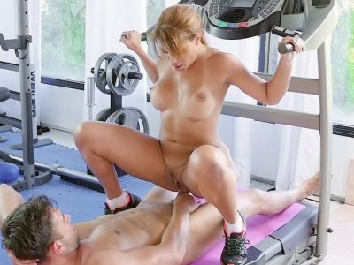 Busty Mercedes Carrera slides her pussy on the hard prick
