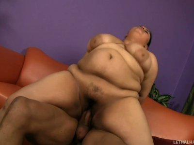 Karla Lane fat ass eats Sledge Hammer's cock