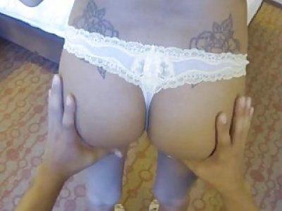 Picked up playgirl groupfucked on spycam