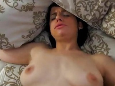 Sexy college babe with body gets cumhole fingered