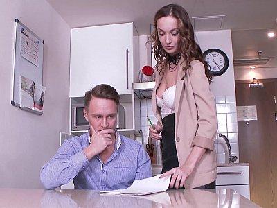 Teacher grabs student's dick