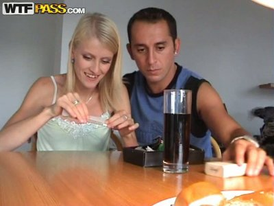 Horny couple smokes and desires to continue the day with a fuck