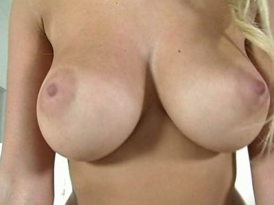 Mesmerizing blonde Laura Love rides pink dick with her tight pussy