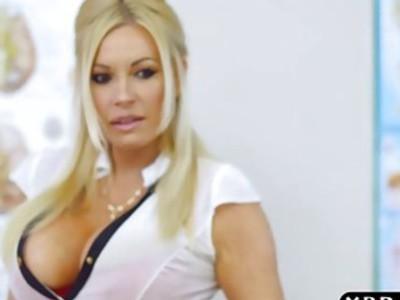 Huge tits teacher Michelle Thorne seduces her student